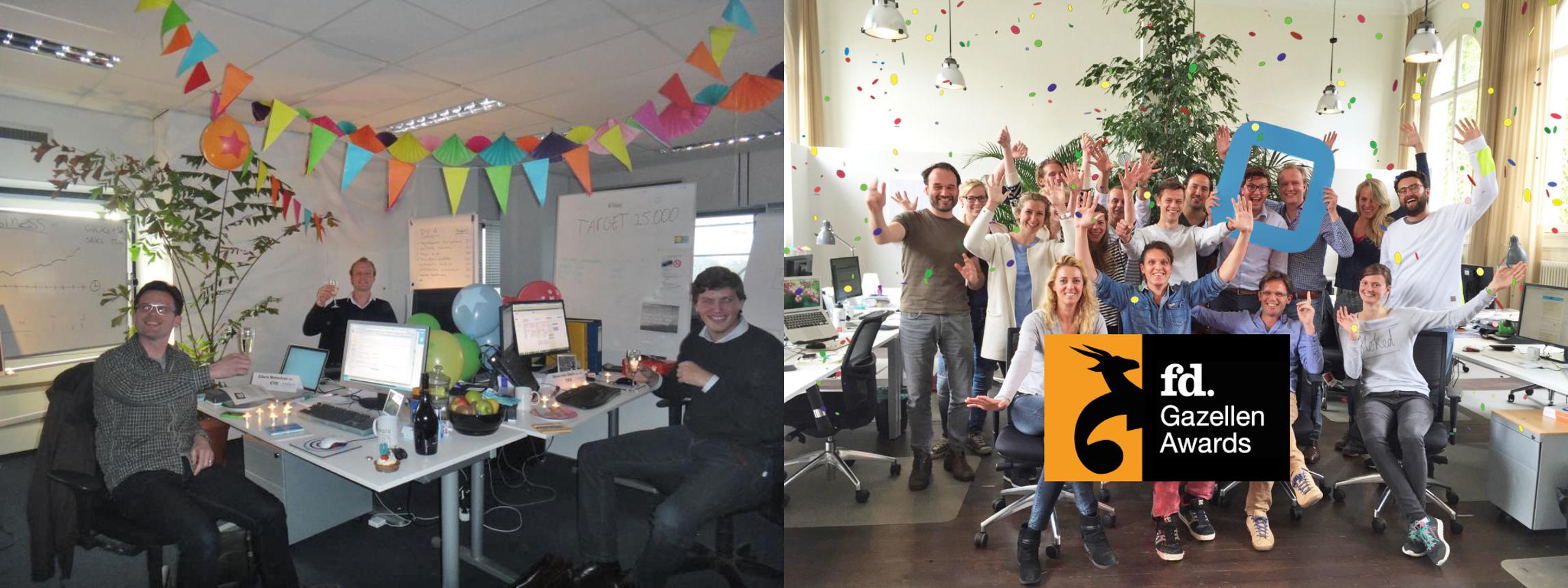 MobPro bij de office opening 2012 en MobPro in 2015.