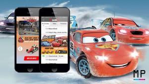 De Cars campagne ter promotie van de nieuwe app, door Mattel.