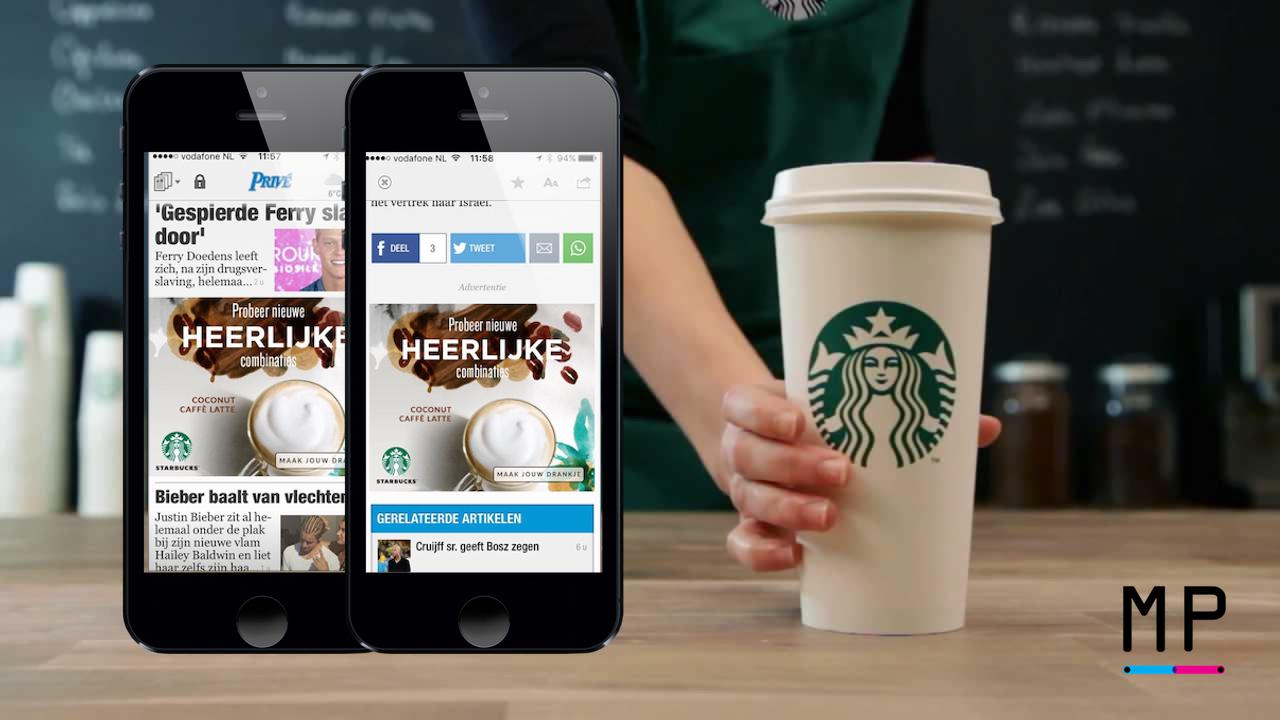Starbucks MobPro mobiel adverteren