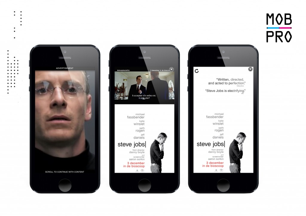 Steve Jobs Universal mobile advertising