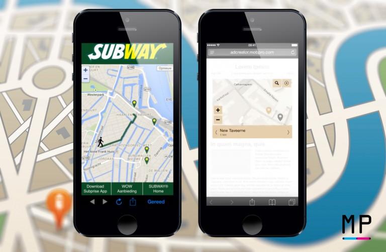 Store-locators van Subway en Bavaria.