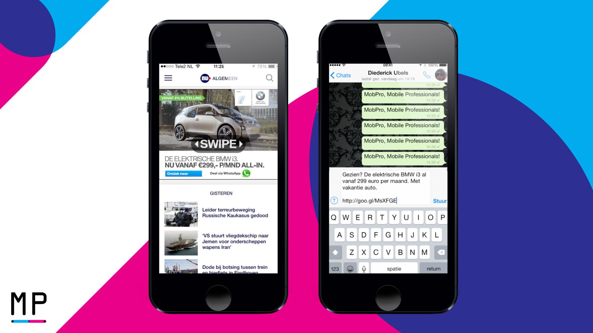 Gebruikers delen de video van de nieuwe BMW i3 met hun vrienden.