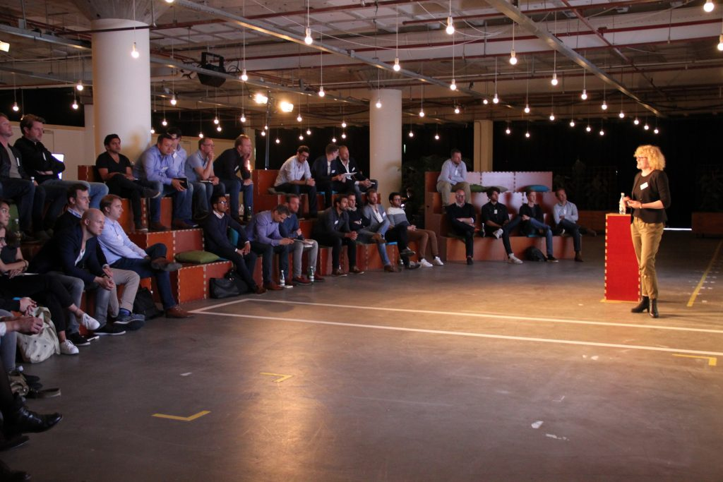 Dominiek spreekt over mobile in-app viewability tijdens het Google Programmatic Event.