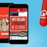 Qmusic: de geruisloze mobiele advertentie van Het Geluid