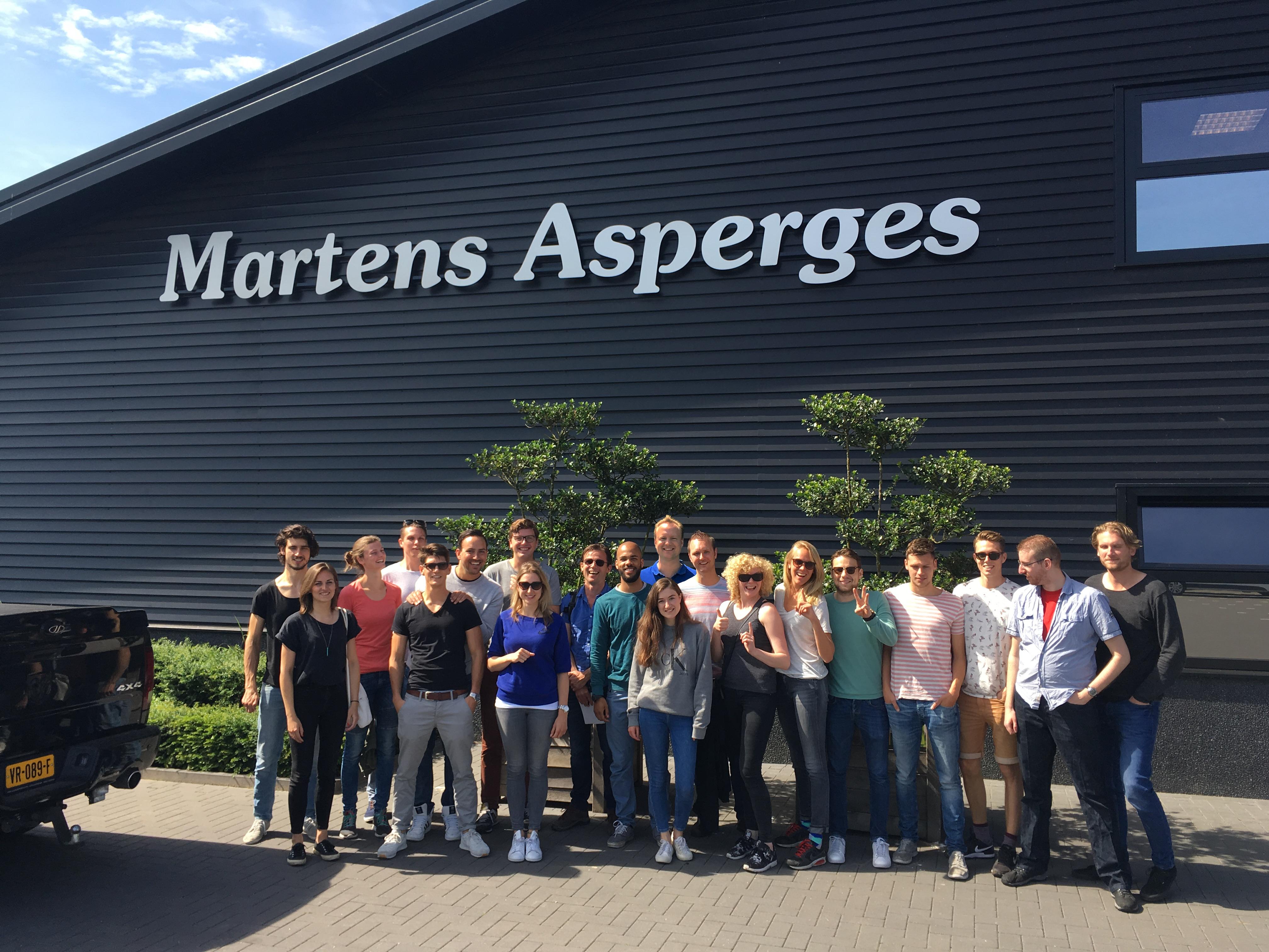 MobPro op aspergebezoek tijdens de Ardennen trip in 2016.