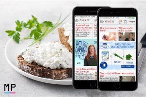 MobPro, Mobile Professionals, Danone, Huttenkäse, mobile ad, mobiele advertentie