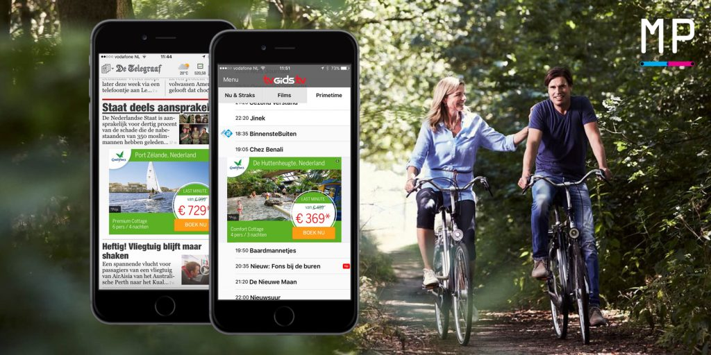 Center Parcs campagne last minute marketing advertising mobile