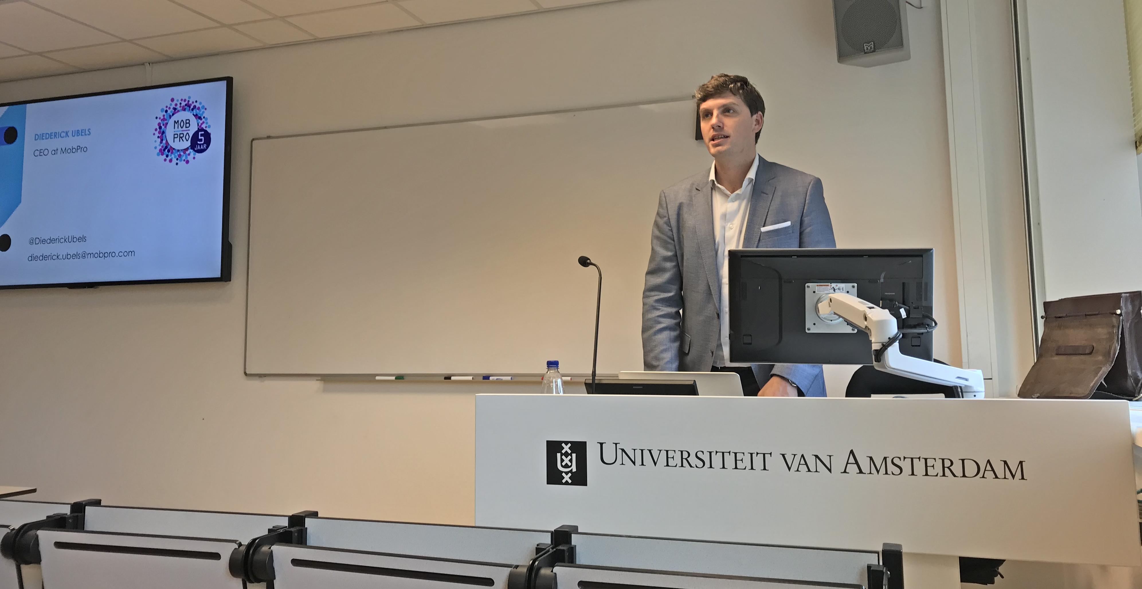 Diederick Ubels Universiteit van Amsterdam UvA gastcollege