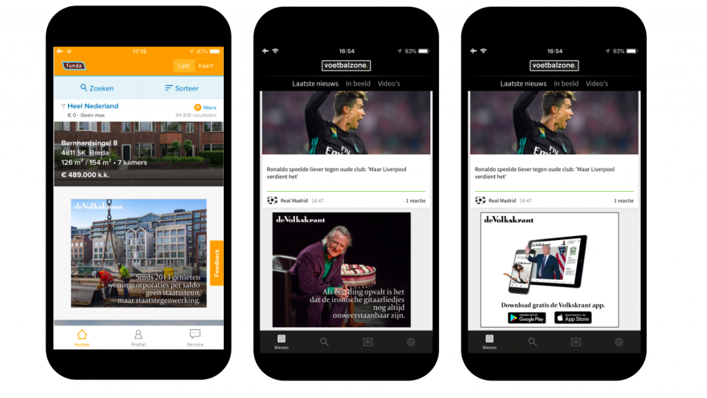 app marketing volkskrant mobpro