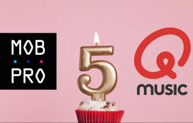 Vijf jaar samenwerken MobPro en Qmusic