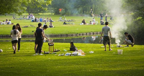 Barbecue in Het Park