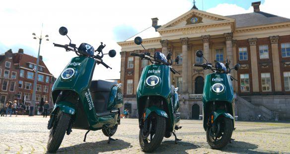 Felyx Scooters In Groningen